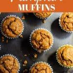 vegan pumpkin muffins pin