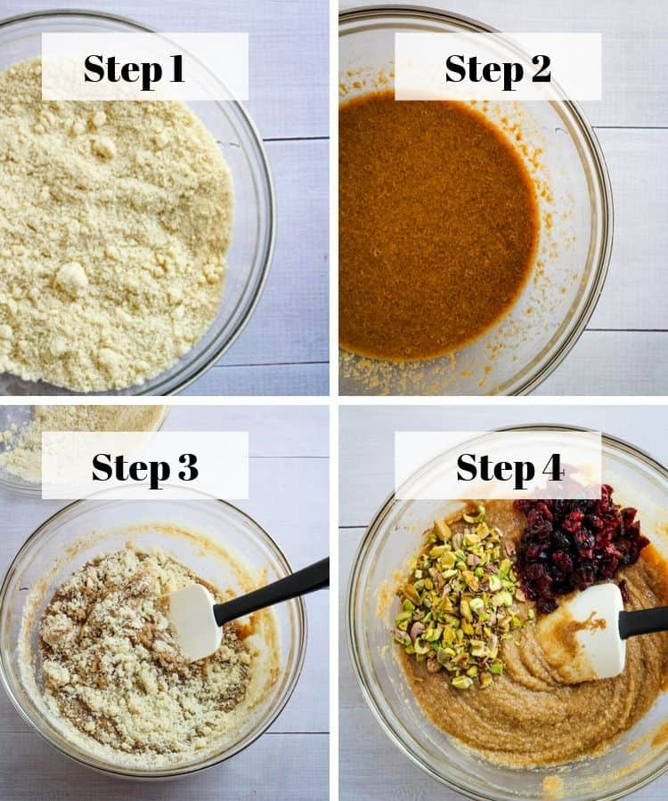 vegan cranberry cookies baking steps