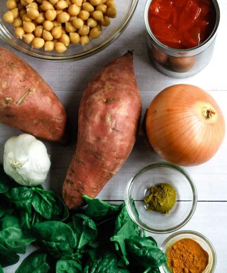 vegan curry ingredients