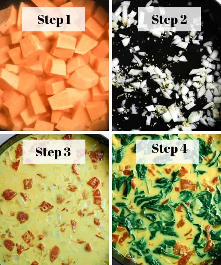 vegan curry steps