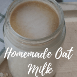 homemade oat milk pin