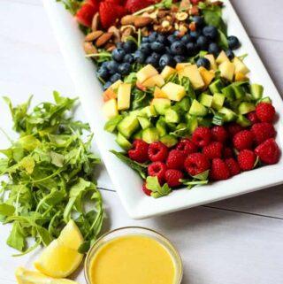 summer berry salad with maple dijon vinaigrette