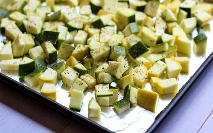 zucchini and summer squash chopped