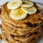 vegan whole wheat pancake pin