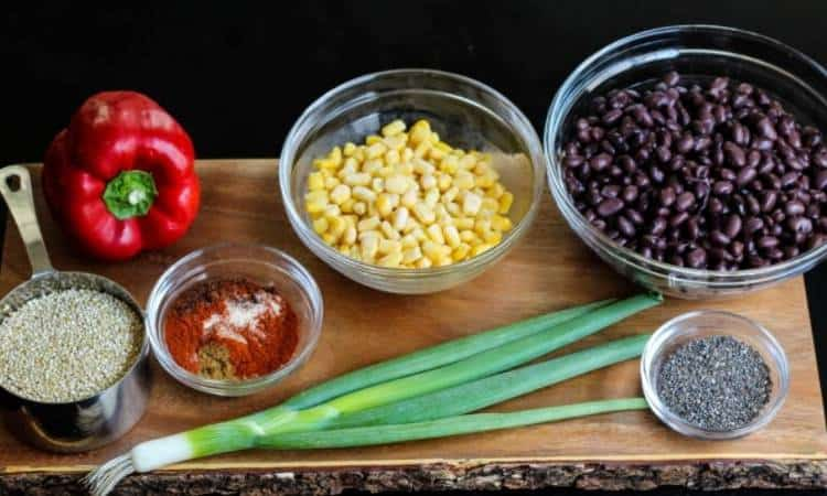 black bean quinoa burger ingredients
