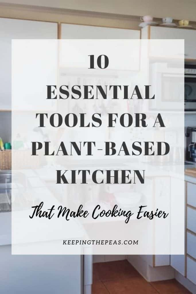 vegan kitchen tools pin