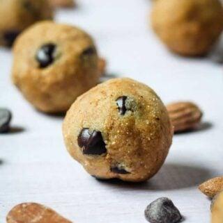 vegan cookie dough balls
