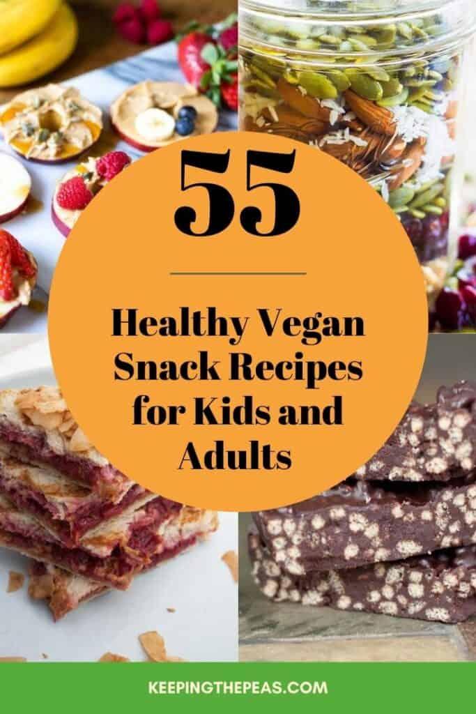 vegan snack recipes collage