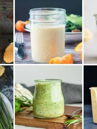 salad dressings in jars