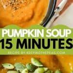 vegan pumpkin soup pin