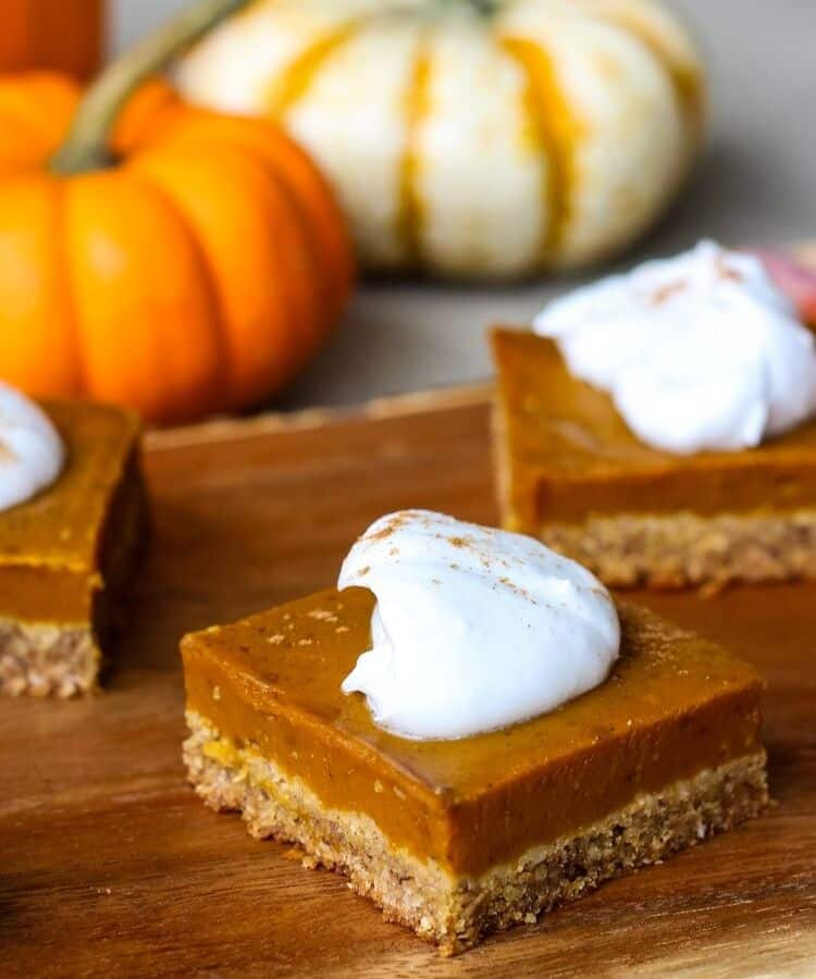 vegan gluten-free pumpkin pie bars