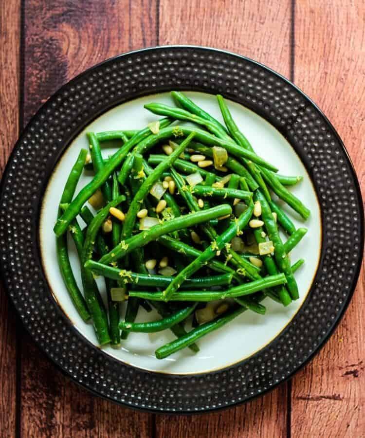 vegan green beans with lemon