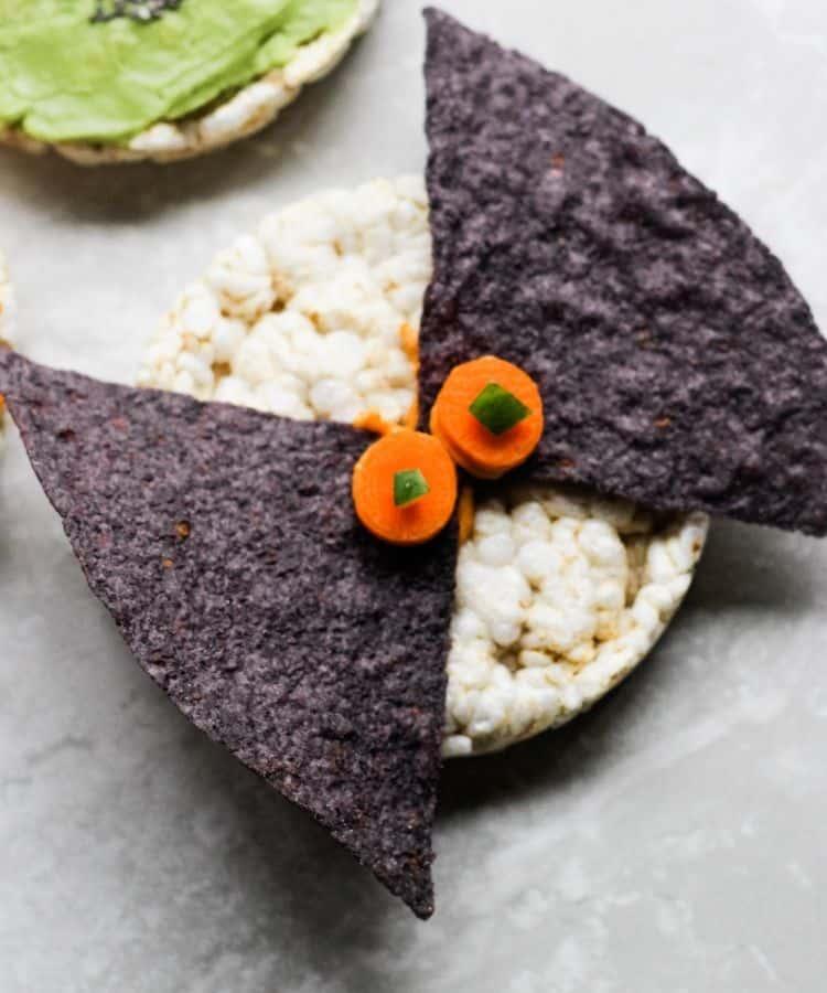 vegan halloween snacks-bat