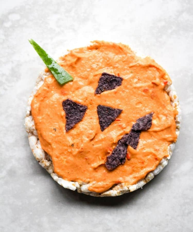 vegan halloween snack=pumpkin
