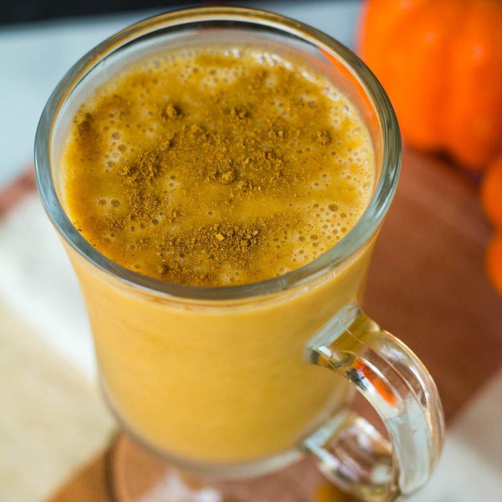 vegan pumpkin plant-based smoothie