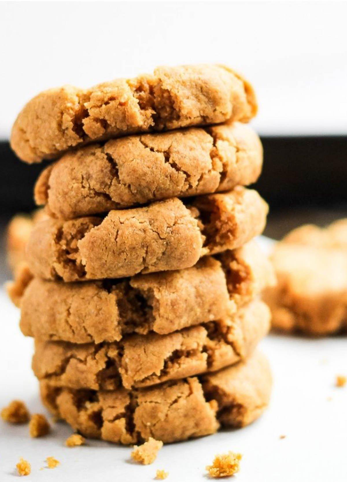 plant-based deserts gluten-free vegan peanut butter cookies