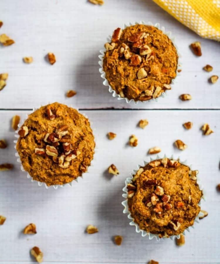 vegan muffins on table