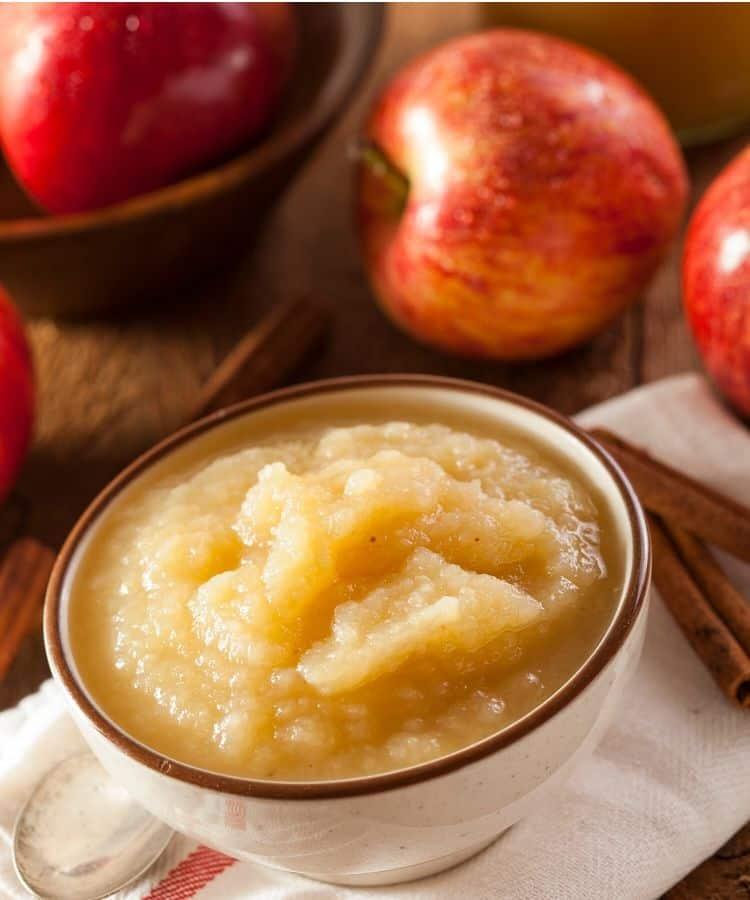 homemade sugar free applesauce