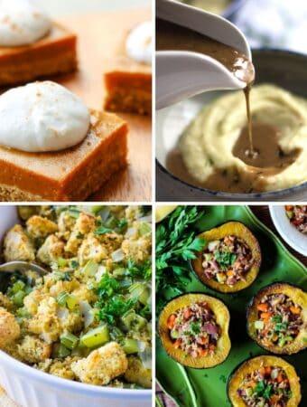 vegan thanksgiving recipes collage