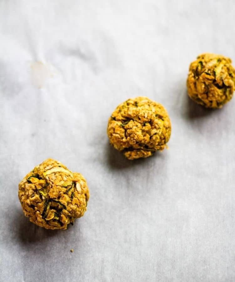 chickpea meatballs golden brown