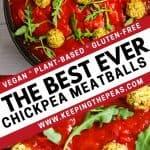 Vegan Chickpea Meatballs