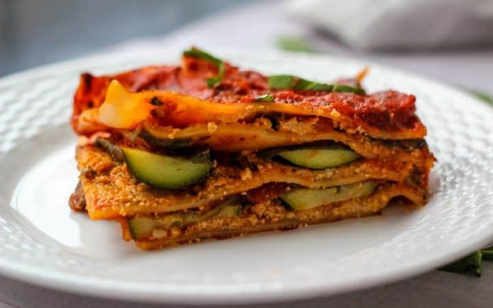 gluten free vegan lasagna slice