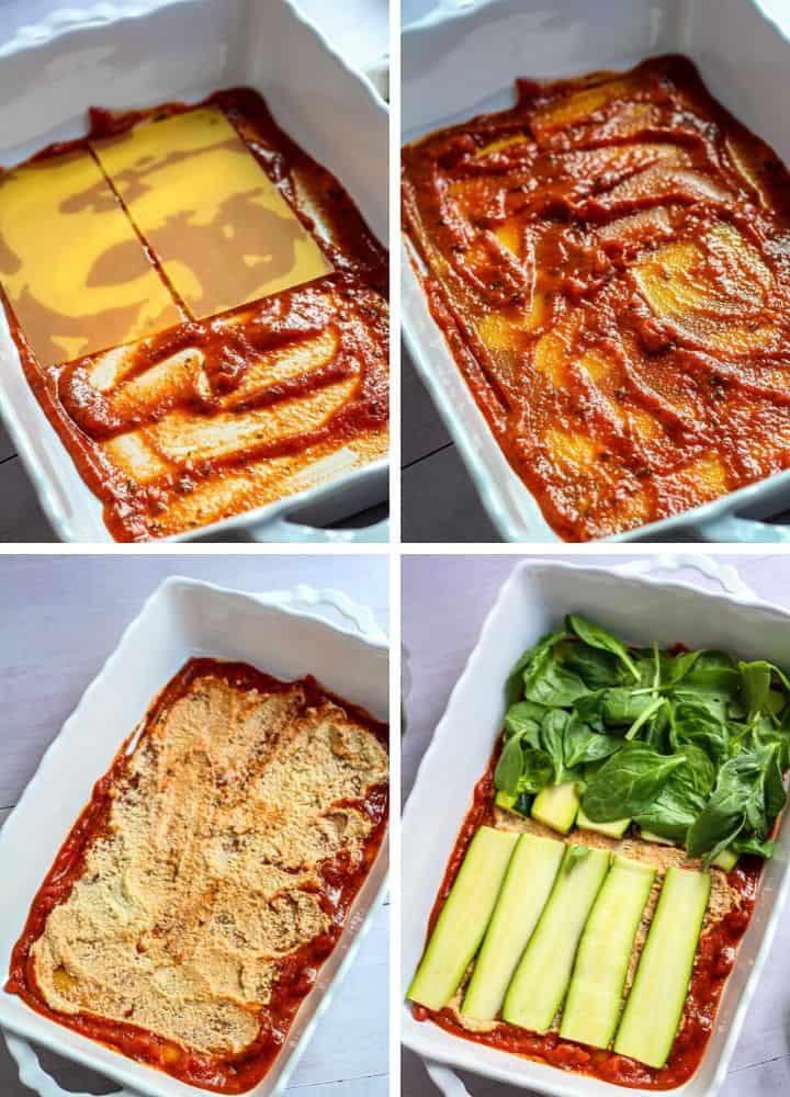 gluten free vegan lasagna steps