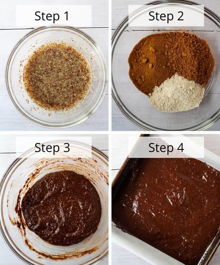 healthy vegan brownies recipe step
