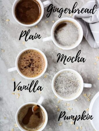 oat milk latte 5 ways
