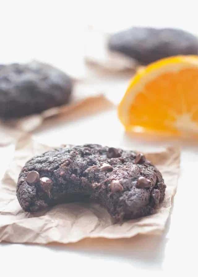 gluten free vegan chocolate orange cookies