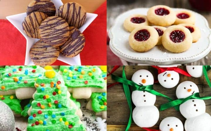 vegan christmas cookies collage