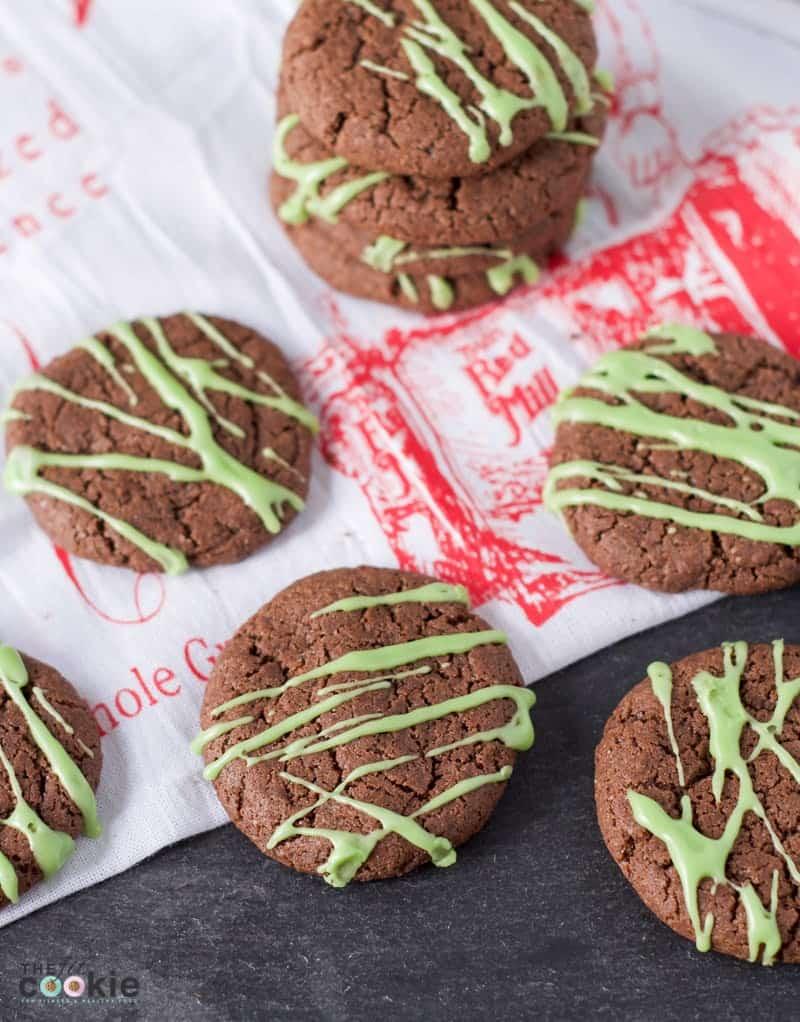 vegan chocolate peppermint cookies