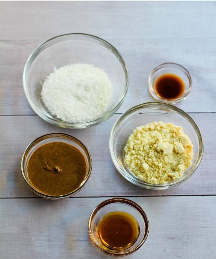 vegan snowball cookie ingredients