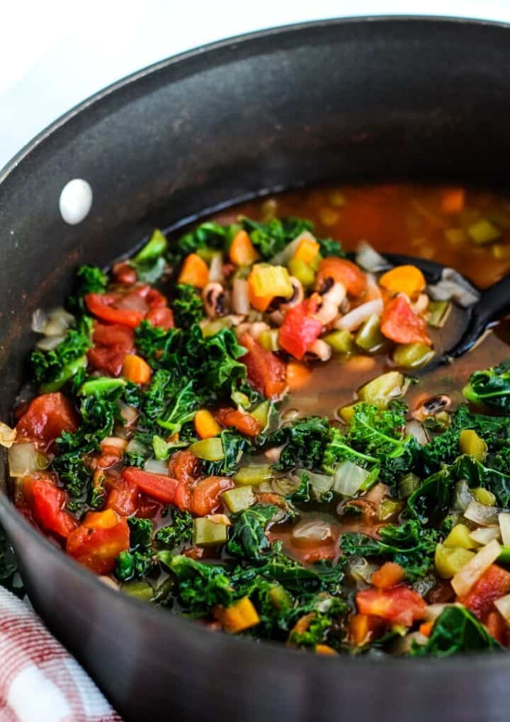 black eyed pea soup with kale