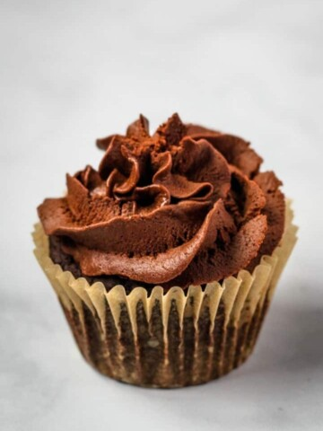 chocolate vegan cupcake