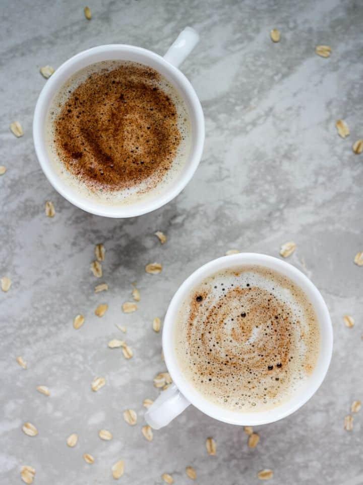 oat milk latte gingerbread and pumpkin
