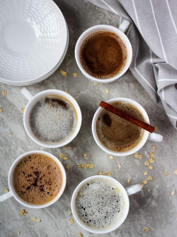 oat milk latte 5 ways