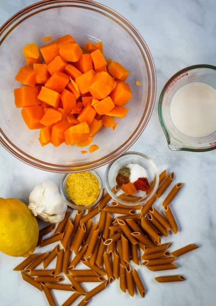 vegan butternut squash mac and cheese ingredients