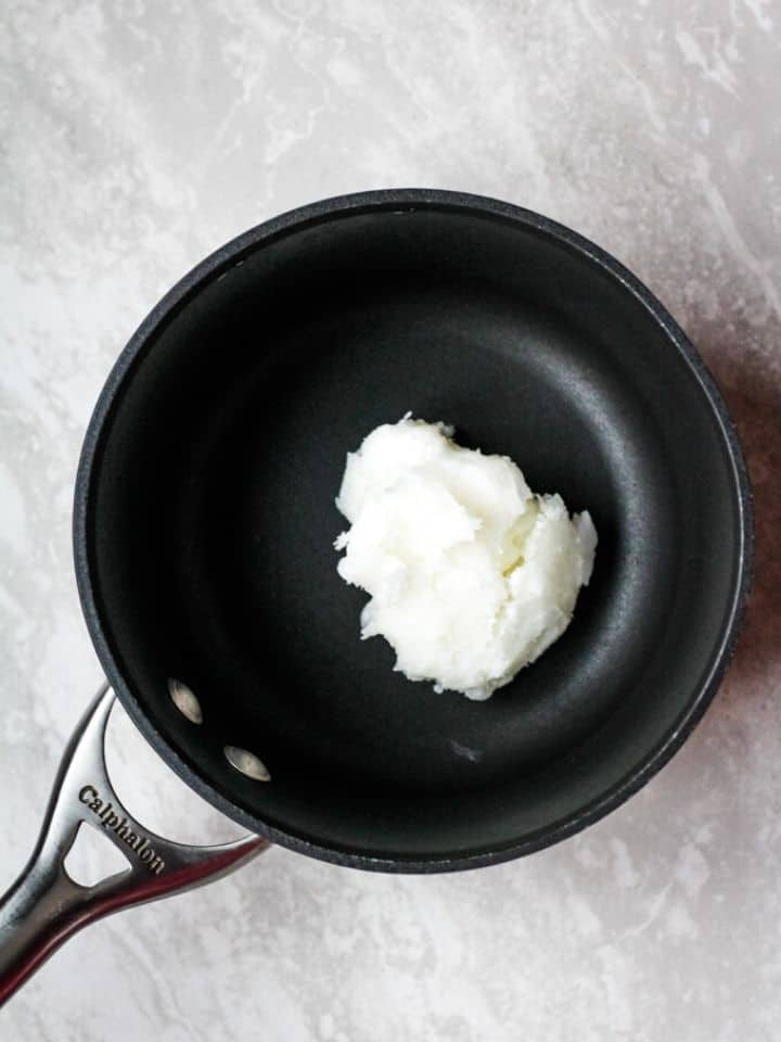 coconut oil in pan