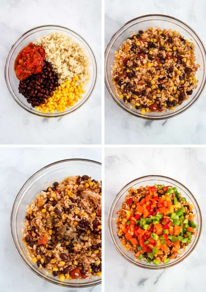step by step instructions to make rice for vegan stuffed peppers