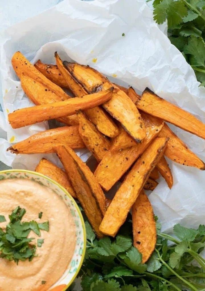 sweet potato wedges and dip