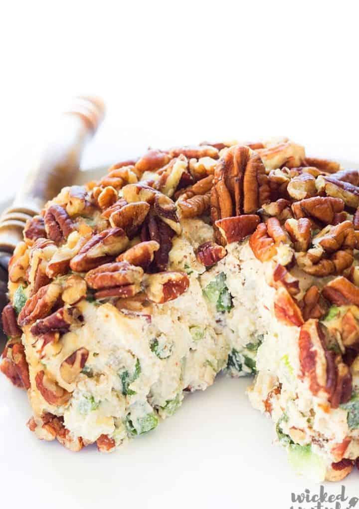 vegan cheeseball with nuts