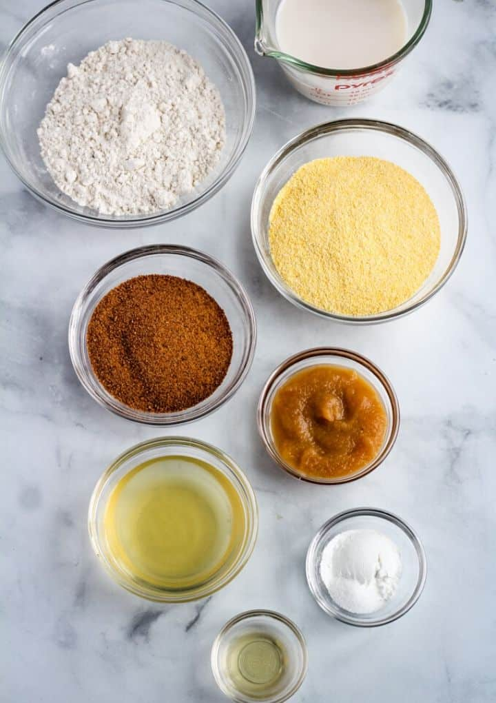 vegan gluten-free cornbread ingredients