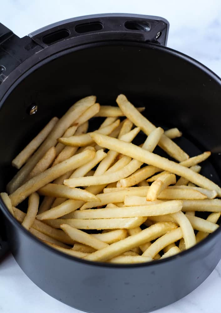 frozen french fries in air fryer basket