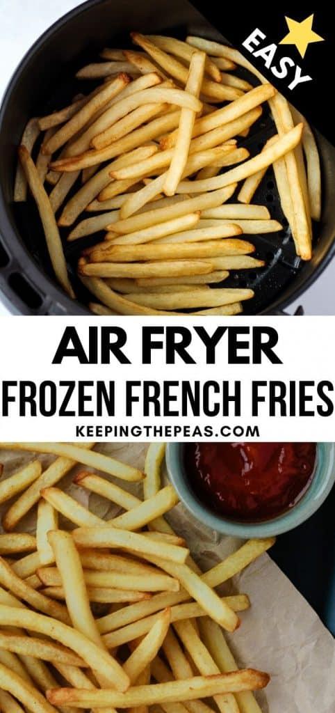 shoe string fries in air fryer basket