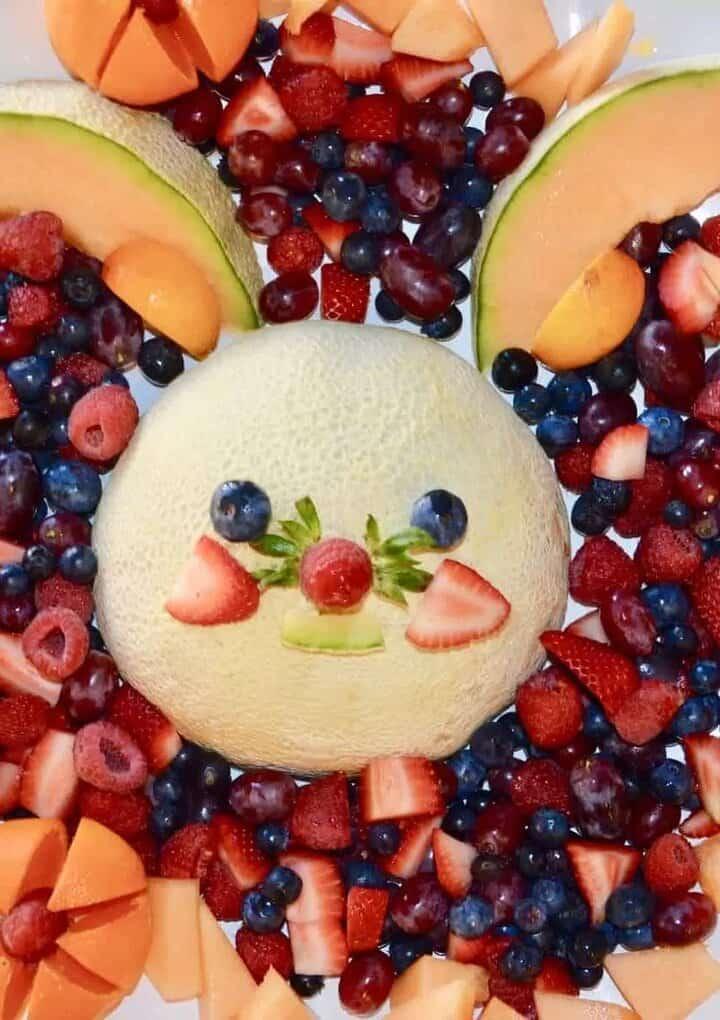 bunny fruit platter
