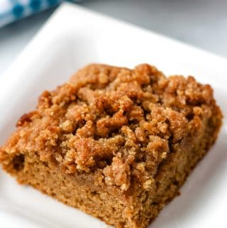 vegan coffee cake slice