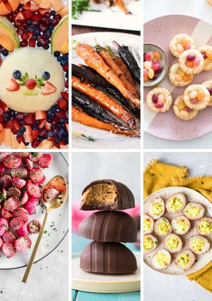 vegan easter recipes collage