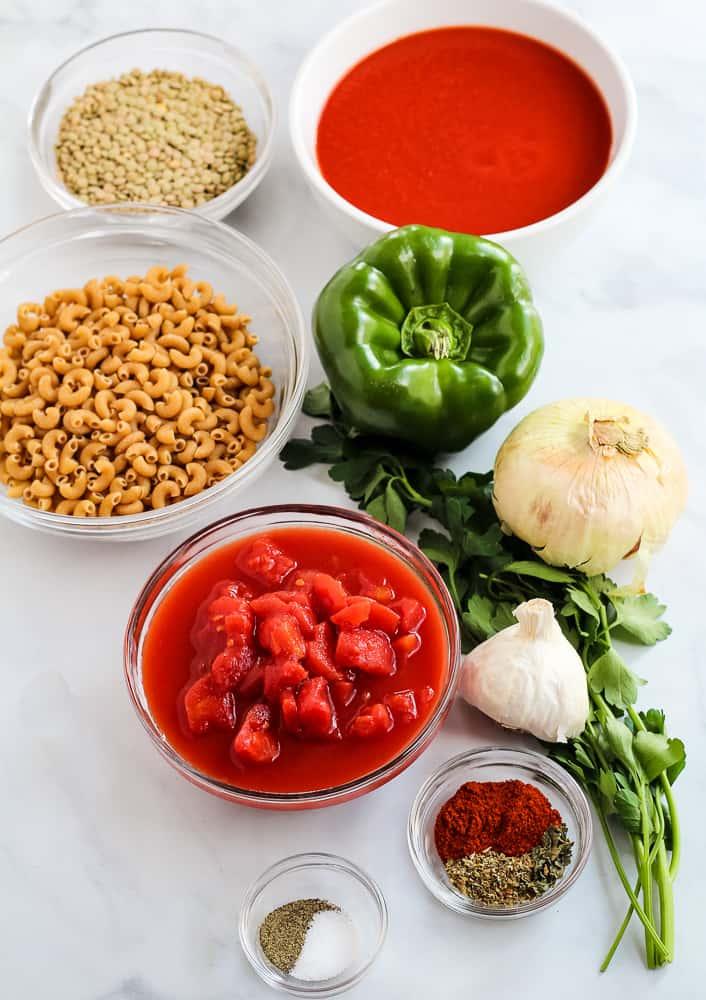 vegan goulash ingredients