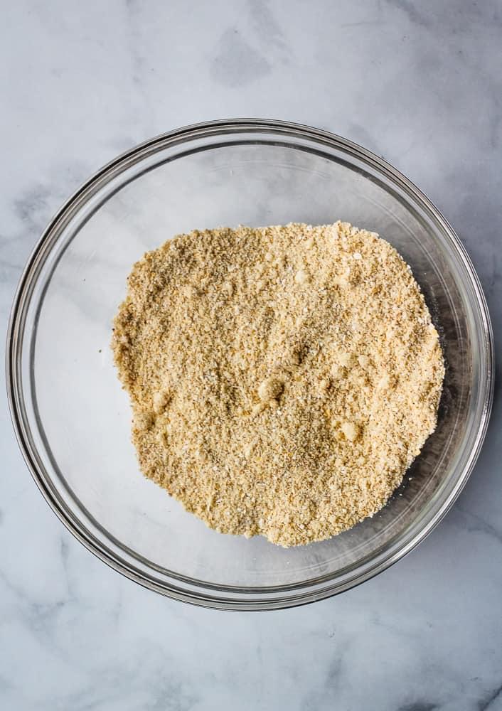 pancake dry ingredients in bowl